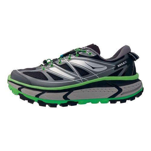 Mens Hoka One One Mafate Speed Trail Running Shoe - Grey/Green 12.5
