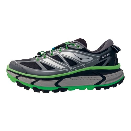 Mens Hoka One One Mafate Speed Trail Running Shoe - Grey/Green 8