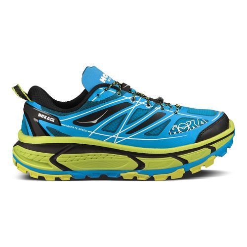 Mens Hoka One One Mafate Speed Trail Running Shoe - Cyan/Lime 13