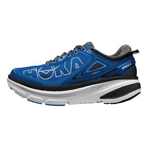 Mens Hoka One One Bondi 4 Running Shoe - Blue/Grey 14