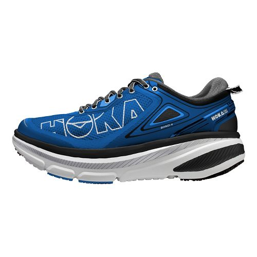 Mens Hoka One One Bondi 4 Running Shoe - Blue/Grey 8