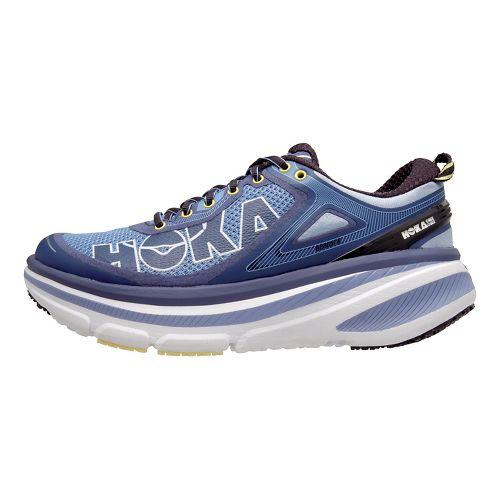 Womens Hoka One One Bondi 4 Running Shoe - Hydrangea/Lime 7.5