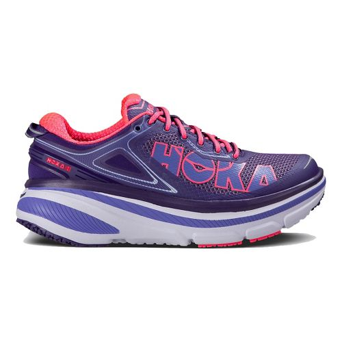 Womens Hoka One One Bondi 4 Running Shoe - Purple/Pink 7