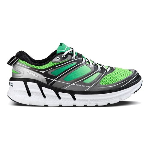 Mens Hoka One One Conquest 2 Running Shoe - Green/Silver 8.5