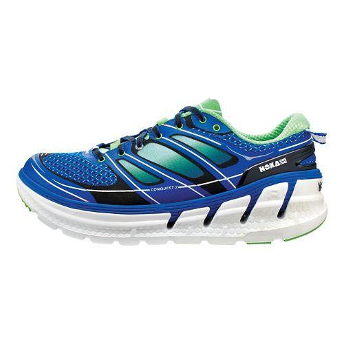 Mens Hoka One One Conquest 2 Running Shoe - Blue/Green 7