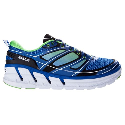 Mens Hoka One One Conquest 2 Running Shoe - Blue/Green 10.5