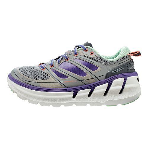 Womens Hoka One One Conquest 2 Running Shoe - Grey/Purple 5