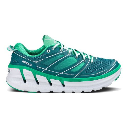 Womens Hoka One One Conquest 2 Running Shoe - Blue/Mint 9.5