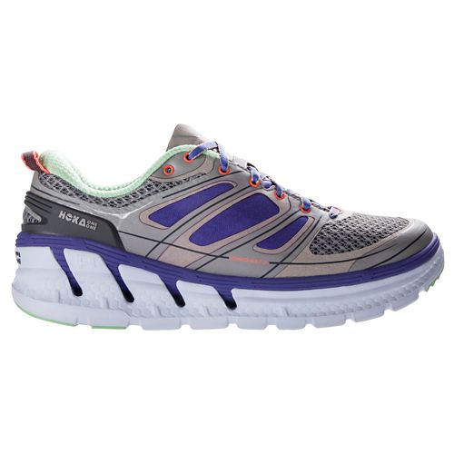 Womens Hoka One One Conquest 2 Running Shoe - Grey/Purple 10.5