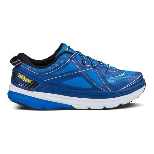 Mens Hoka One One Constant Running Shoe - Blue/Yellow 12.5