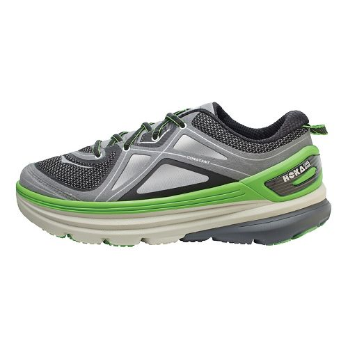 Mens Hoka One One Constant Running Shoe - Grey/Green 8.5