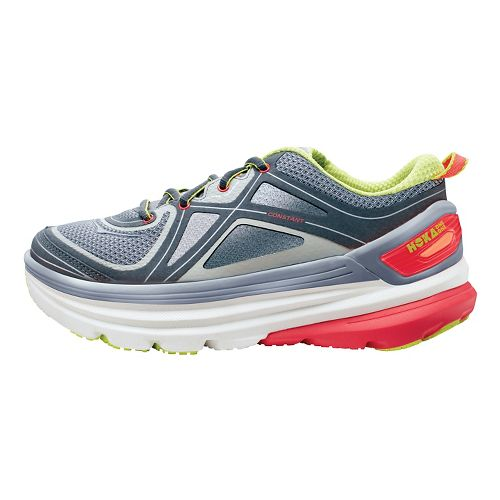 Womens Hoka One One Constant Running Shoe - Grey/Pink 9