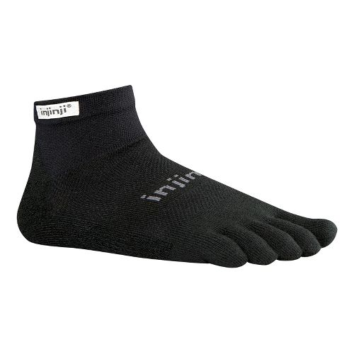 Injinji Footwear RUN Lightweight Mini Crew Socks - Black S