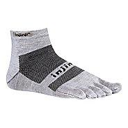 Injinji Footwear RUN Lightweight Mini Crew Socks - Grey L