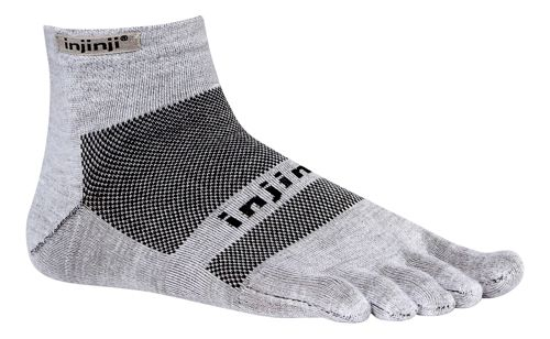 Injinji Footwear RUN Lightweight Mini Crew Socks - Grey S
