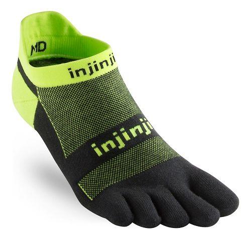 Injinji Footwear RUN Lightweight No Show CoolMax Socks - Grasshopper L