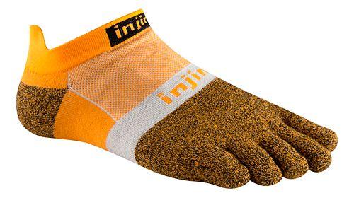 Injinji Footwear RUN Lightweight No Show CoolMax Socks - Tangerine L
