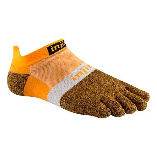 Injinji Footwear RUN Lightweight No Show CoolMax Socks - Tangerine L