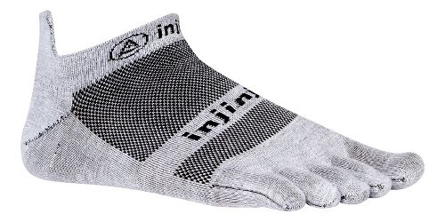 Injinji Footwear RUN Lightweight No Show CoolMax Socks - Grey M