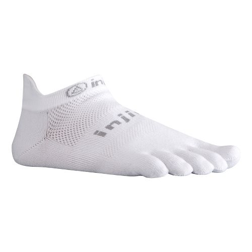 Injinji Footwear RUN Lightweight No Show Socks - White L