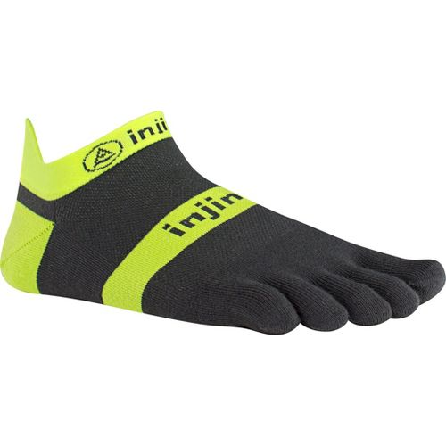Injinji Footwear RUN Lightweight No Show Socks - Yellow/Slate L