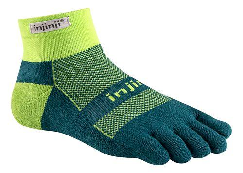 Injinji Footwear RUN Midweight Mini Crew CoolMax Socks - Chive M