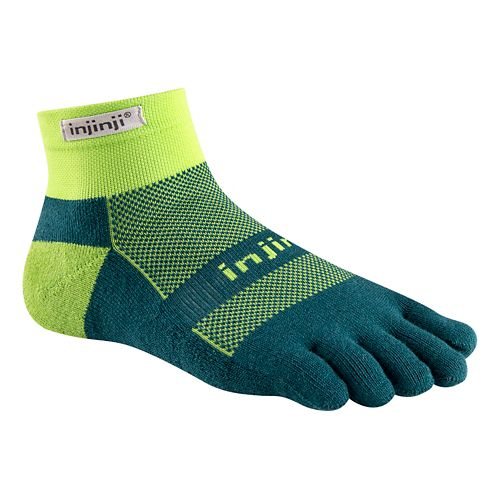 Injinji Footwear RUN Midweight Mini Crew CoolMax Socks - Chive L