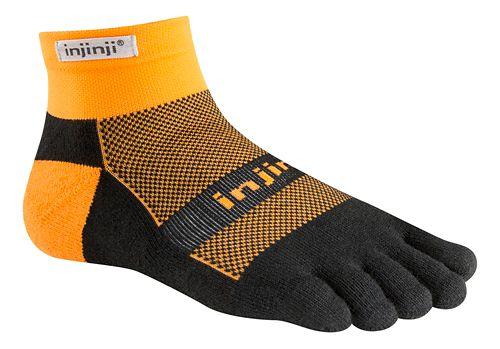 Injinji Footwear RUN Midweight Mini Crew CoolMax Socks - Tangerine M