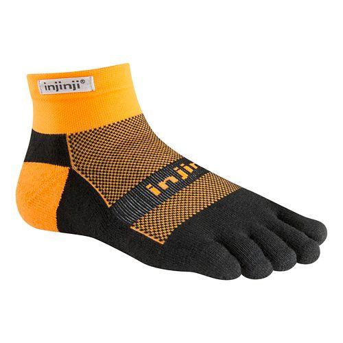 Injinji Footwear RUN Midweight Mini Crew CoolMax Socks - Tangerine L