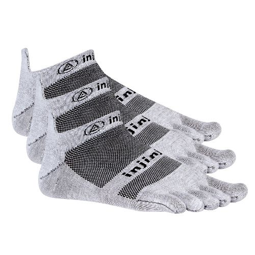 Injinji Footwear RUN Lightweight No Show 3 pack Socks - Grey M