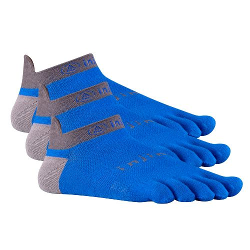 Injinji Footwear RUN Lightweight No Show 3 pack Socks - Marine Blue L
