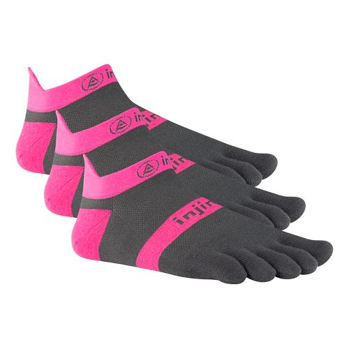 Injinji Footwear RUN Lightweight No Show 3 pack Socks - Pink M