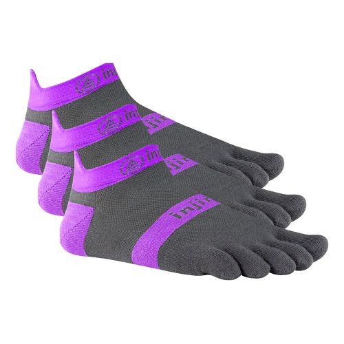 Injinji Footwear RUN Lightweight No Show 3 pack Socks - Purple M