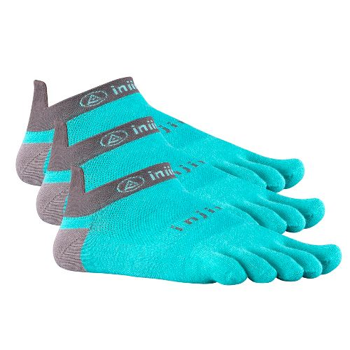 Injinji Footwear RUN Lightweight No Show 3 pack Socks - Teal M