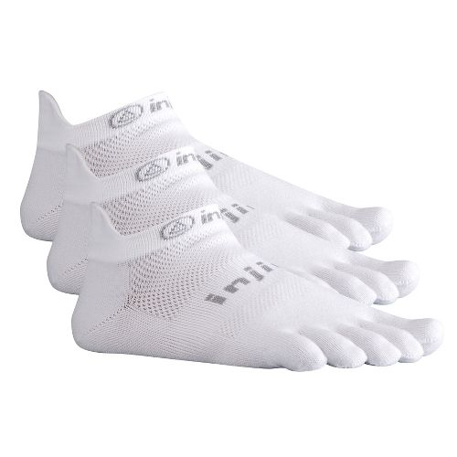 Injinji Footwear RUN Lightweight No Show 3 pack Socks - White L