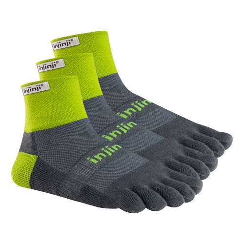 Injinji Footwear TRAIL Midweight Mini-Crew 3 pack Socks - Wild Lime M