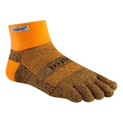 Injinji Footwear TRAIL Midweight Mini-Crew CoolMax Socks - Tangerine L