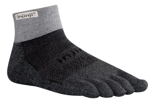 Injinji Footwear TRAIL Midweight Mini-Crew CoolMax Socks - Granite M