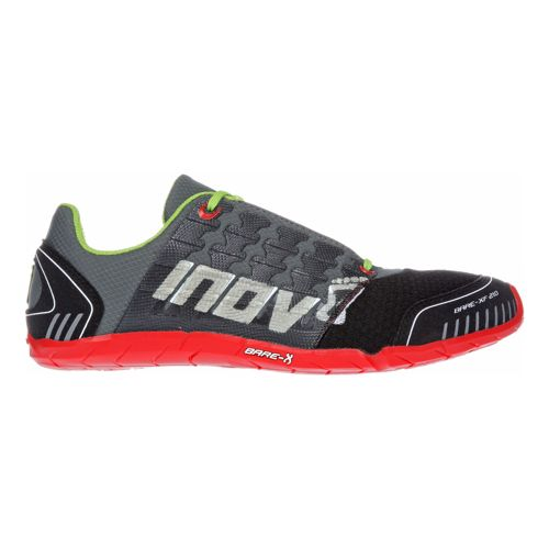 Mens Inov-8 Bare-XF 210 Cross Training Shoe - Charcoal/Red 12