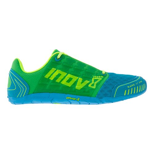 Womens Inov-8 Bare-XF 210 Cross Training Shoe - Green/Blue 7.5