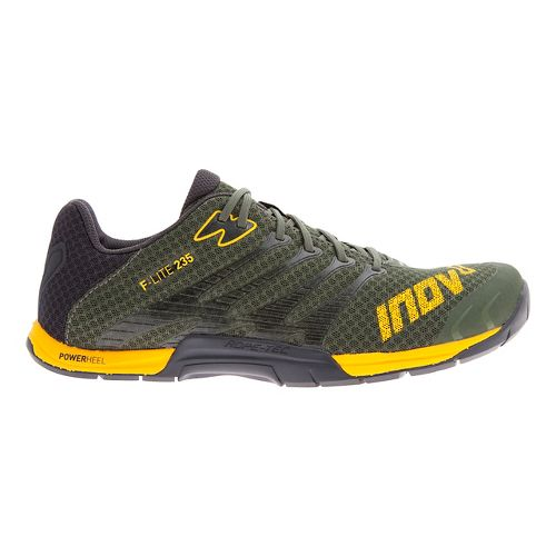 Mens Inov-8 F-Lite 235 Cross Training Shoe - Dark Green/Yellow 9.5