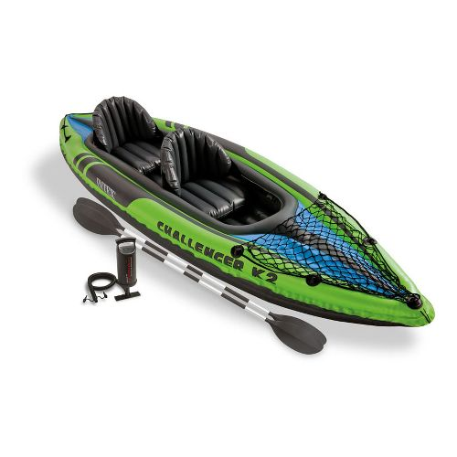 Intex Challenger K2 Kayak Fitness Equipment - Green/Black