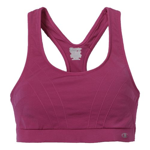 Womens Champion Shiny Seamless Sports Bra - Magenta M