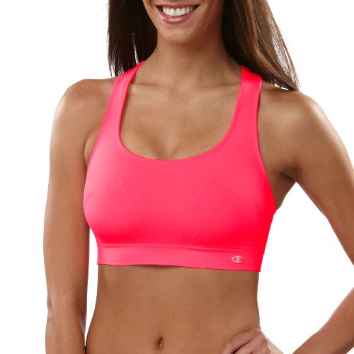 Womens Champion Shiny Seamless Sports Bra - Neon Pink M