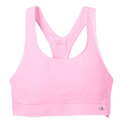 Womens Champion Shiny Seamless Sports Bra - Pink L