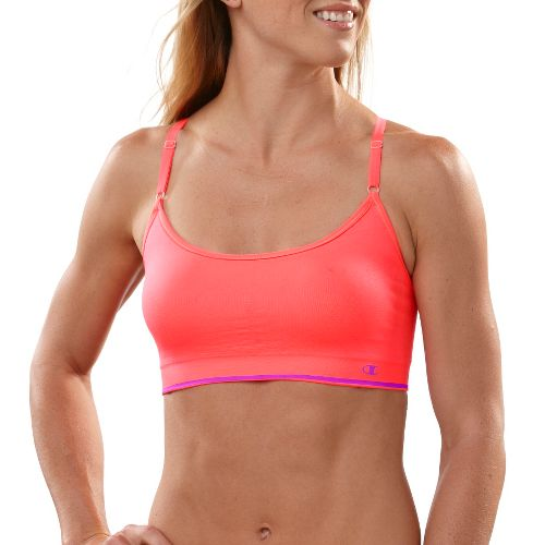 Womens Champion Seamless Cami Sports Bra - Dayglo Orange M