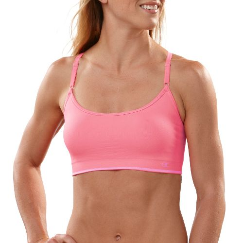 Womens Champion Seamless Cami Sports Bra - Hot Coral S