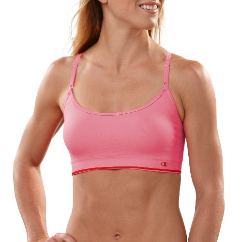 Womens Champion Seamless Cami Sports Bra - Lotus L