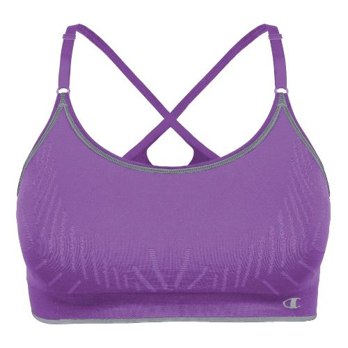 Womens Champion Seamless Cami Sports Bra - Violet L
