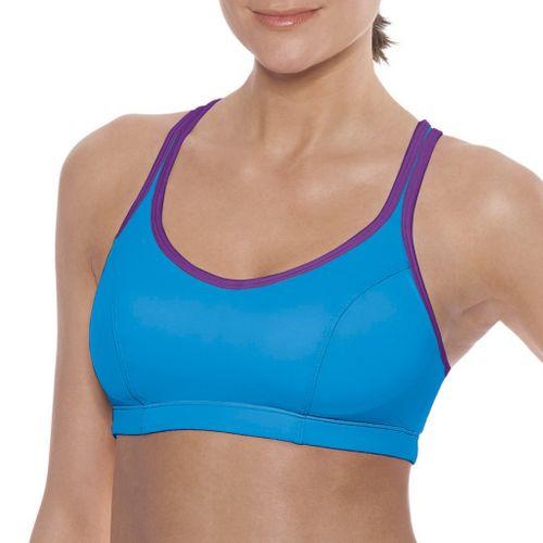 Womens Champion Shape T-Back Sports Bra - Copen Blue/Plum 38C